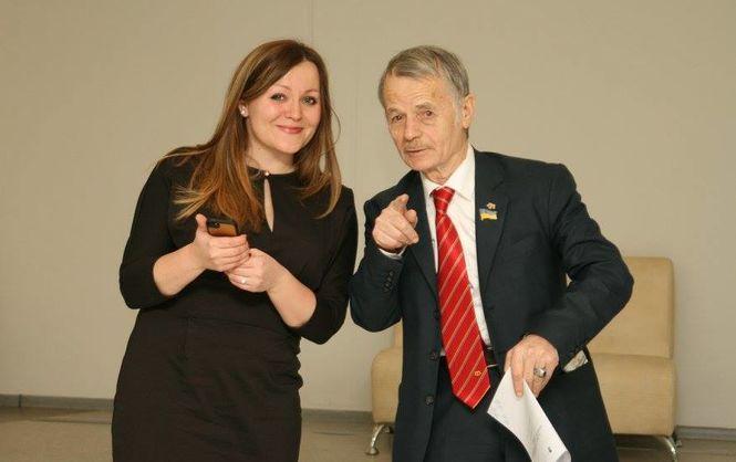 Світлана Матвієнко та Мустафа Джемілєв
